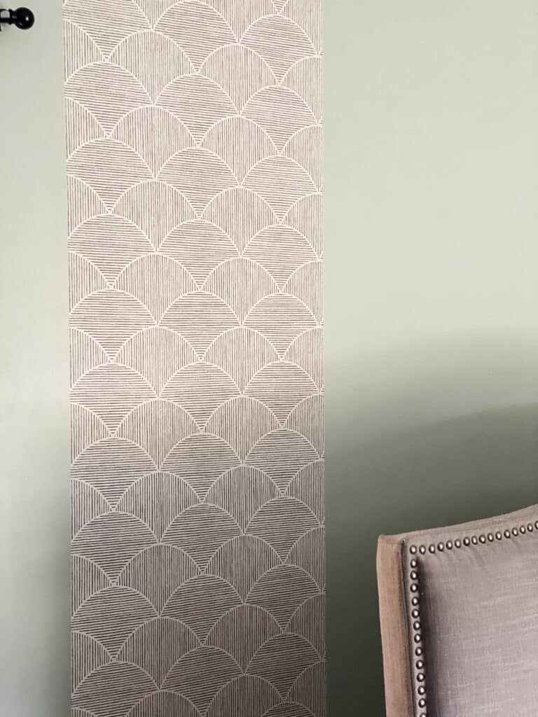 putting up peel and stick wallpaper