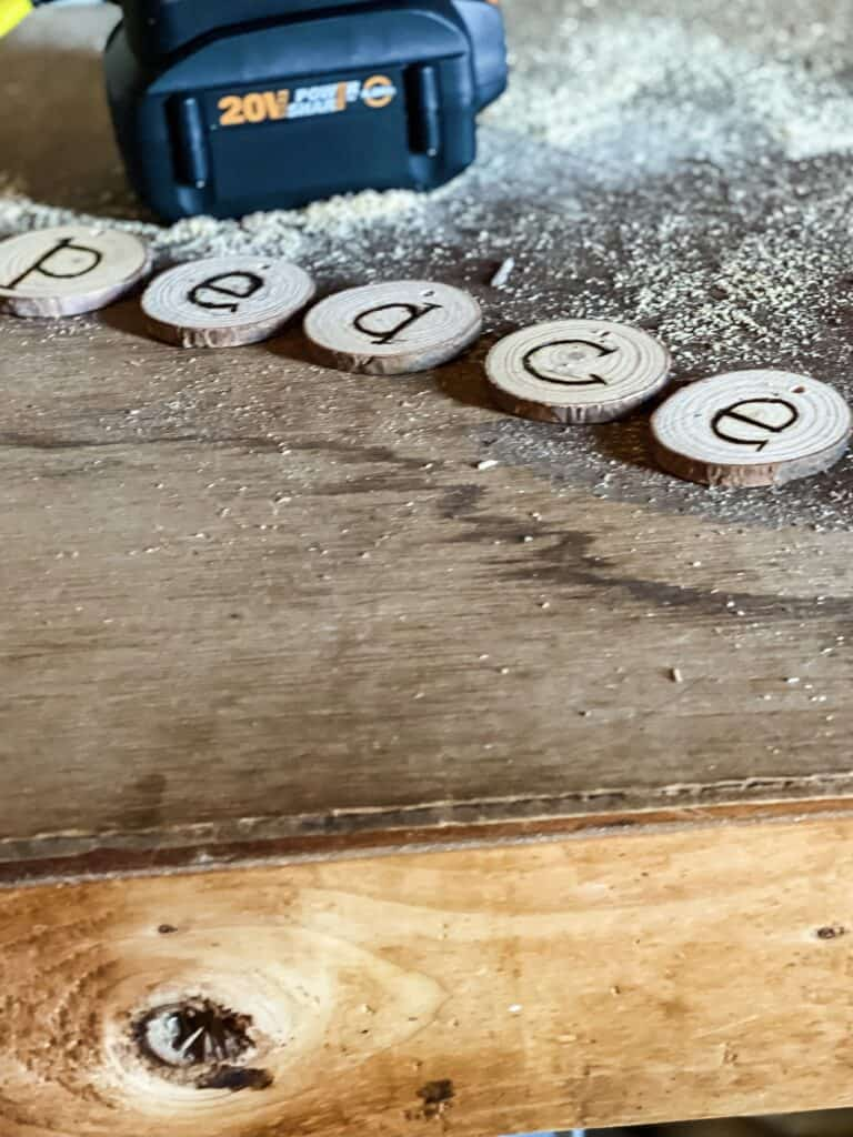 wood burning letters