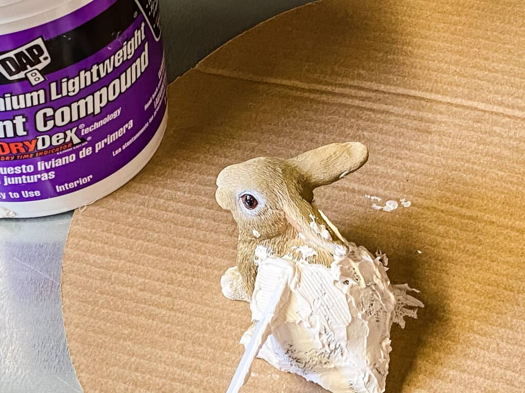 covering bunny in joint compound