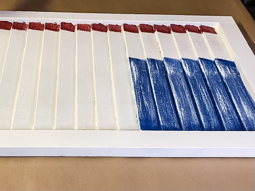 painting a patriotic shutter