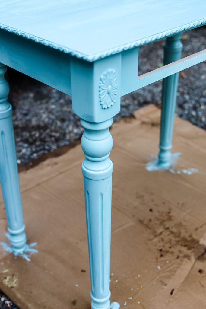 light turquoise table