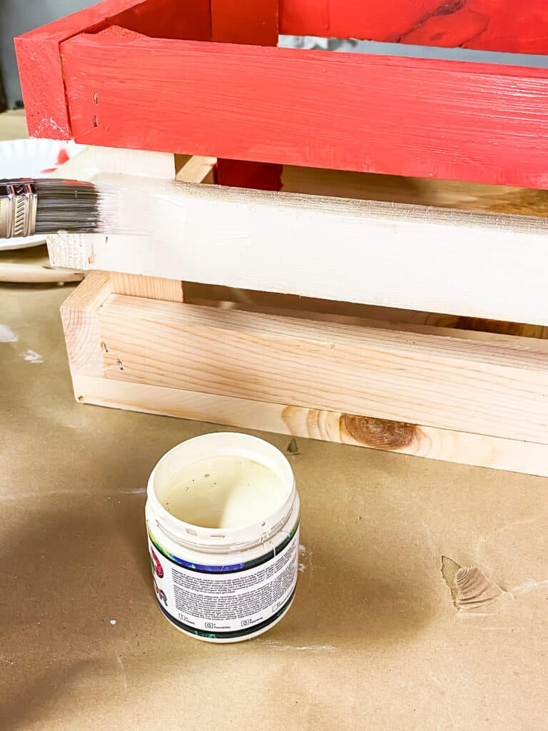 painting an unfinished wooden crate