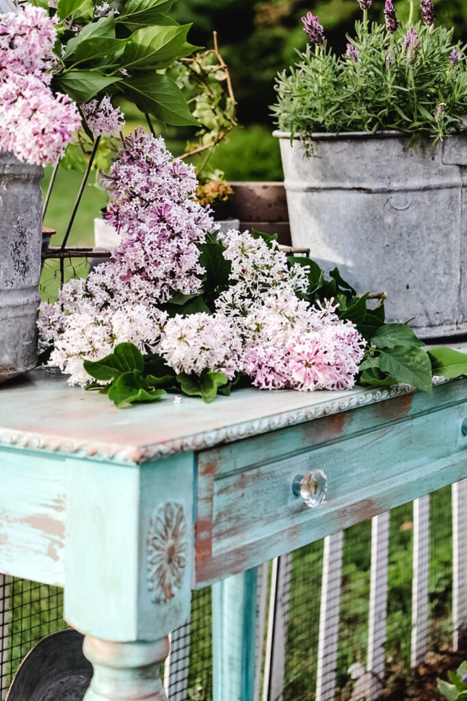 French Country DIY Potting Bench