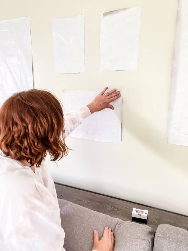 tip for hanging a gallery wall