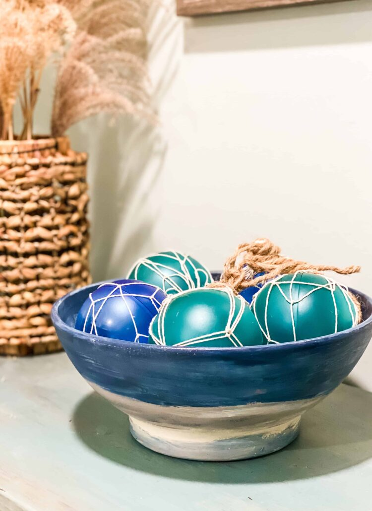 bowl with glass floats