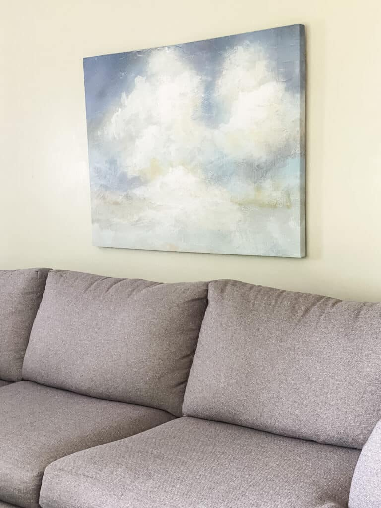 cloud picture over couch