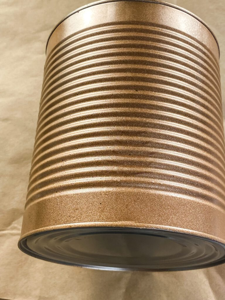 tin can painted copper