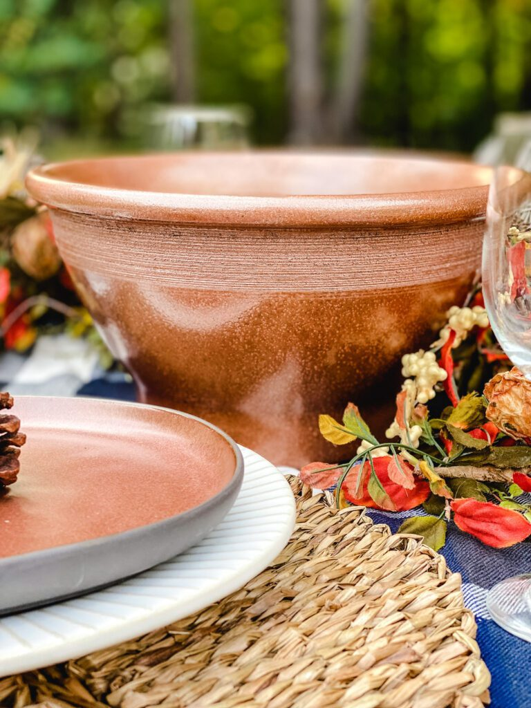 copper painted bowl